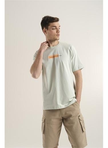 Oksit Lui Erkek Önü Ve Arkası Baskılı Pamuklu Oversize T-Shirt Yeşil